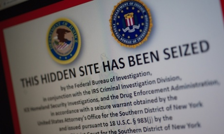 A screengrab of the Silk Road after it was shut down in October.