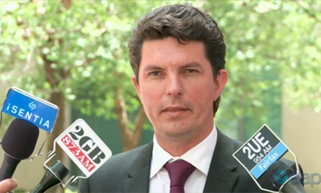 Scott Ludlam talking in Canberra