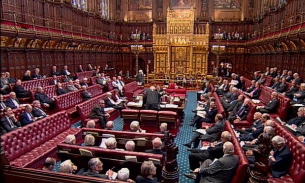 Peers are debating the lobbying bill.