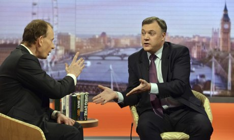 Ed Balls Appears On The Andrew Marr Show