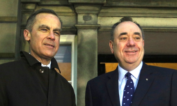 Mark Carney meeting Alex Salmond earlier today.