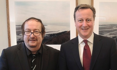 David Cameron pictured with DJ Steve Wright.