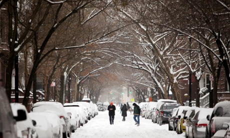 Six inches fell in Central Park in New York City Thursday night.
