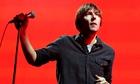 Thomas Mars on stage in Los Angeles.