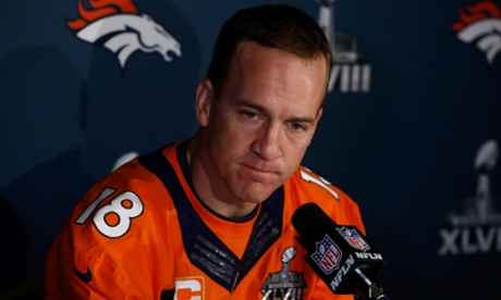 Somebody has just told Peyton Manning of Paolo's Super Bowl XLVIII prediction.