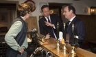 Cameron and Hollande at the pub