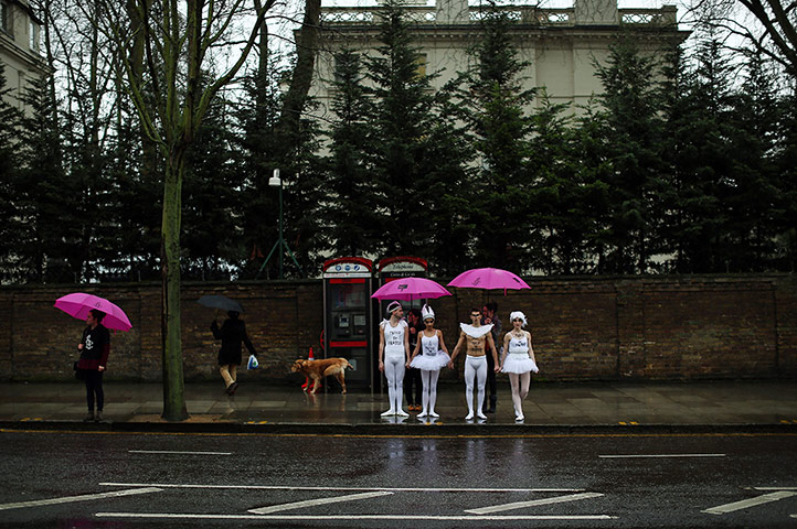 20 Photos: Protest Performance of Swan Lake Outside The Russian Embassy