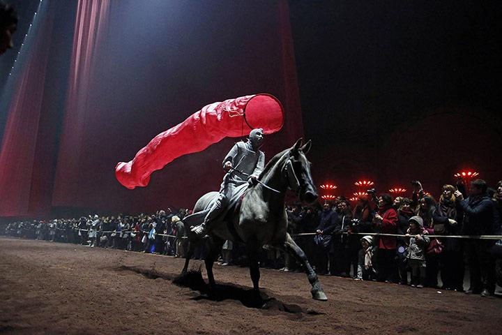 20 Photos: A performer on a horse in an equestrian show at the Grand Palais in Paris