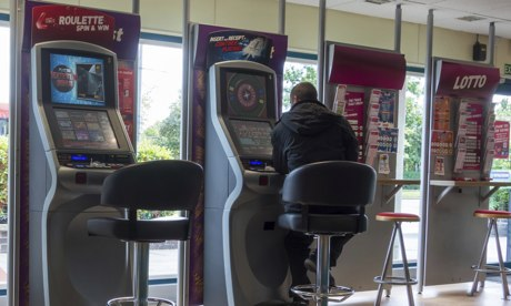 Roulette machines in Ladbrokes Bookmakers, England, UK