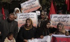 Palestinian protest against renewed peac