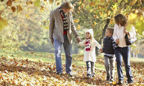 familia en un parque