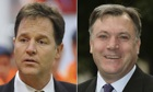 Nick Clegg and Ed Balls
