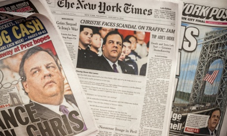 Chris Christie newspapers
