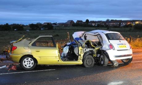 Shotton Colliery Car Crash