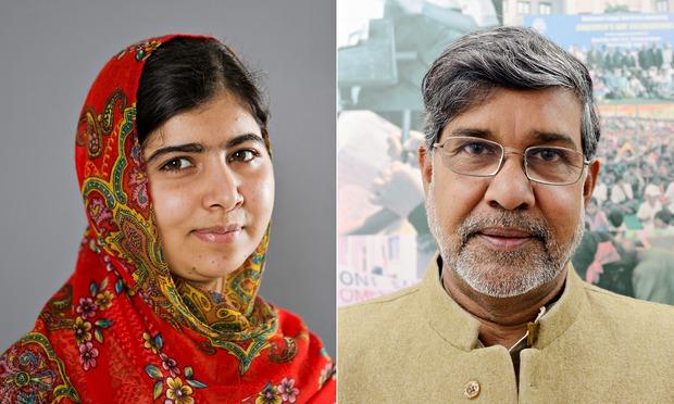 Nobel Peace Prize Winners 2014 Malala Yousafzai and K...
