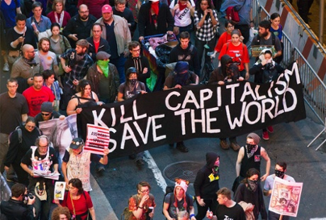 An Occupy Wall Street demonstration in New York.