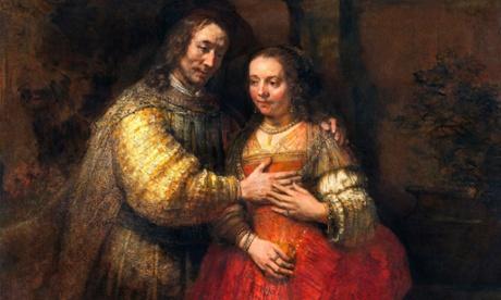 Rembrandt's The Jewish Bride, oil on canvas (circa 1665-1669).