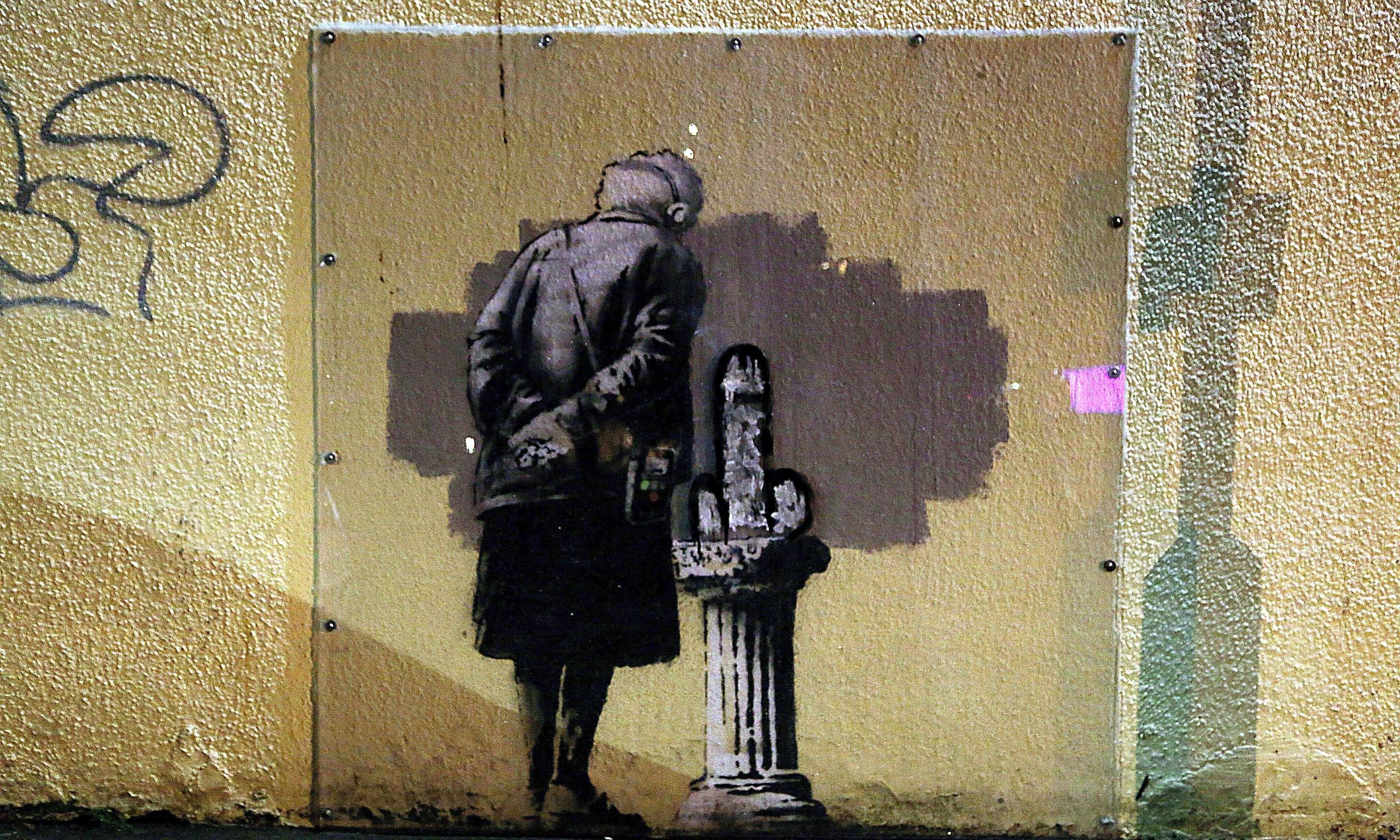 Banksy mural art buff vandalised art and design the for Call for mural artists 2014