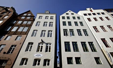 Old waterfront buildings in Hamburg, Germany