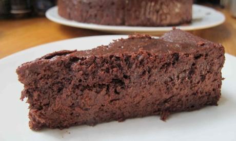 Justin Gellatly's flourless chocolate cake