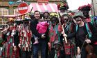 Cameron with morris dancers
