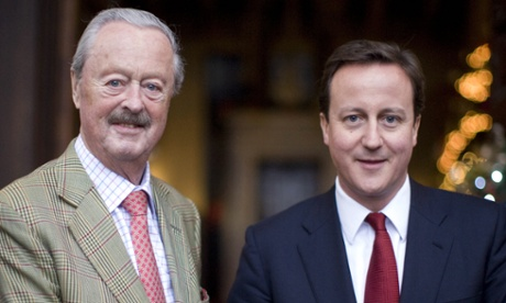 The Duke of Marlborough and David Cameron in 2009.