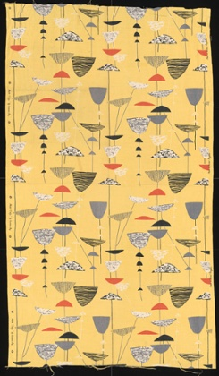 Calyx furnishing fabric by Lucienne Day, 1951