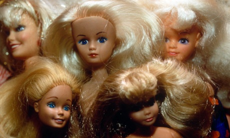 Group hug. Barbie sales have been sliding for nearly three years.