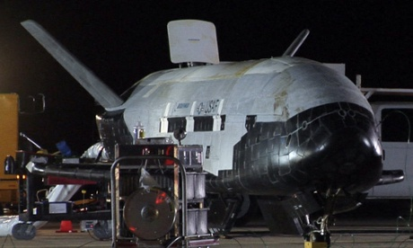 The US air force's first unmanned re-entry spacecraft landed at Vandenberg Air Force Base in California.