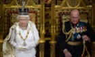 The Queen and Prince Philip during the state opening of Parliament last June.