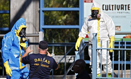 A clean-up in Dallas, Texas, after a suspected Ebola case