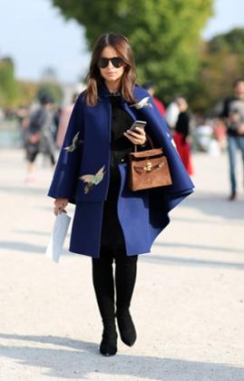 Miroslava Duma during Paris Fashion Week