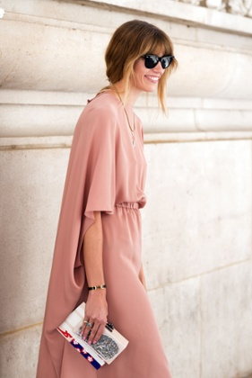 Veronika Heilbrunner outside the Carven show  during Paris Fashion Week