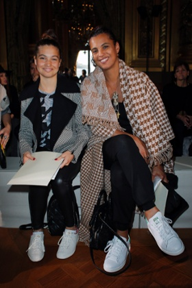 Neneh Cherry and her daughter Mabel at the Stella McCartney's show