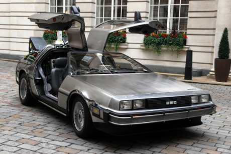 The DeLorean Car from Back to the Future