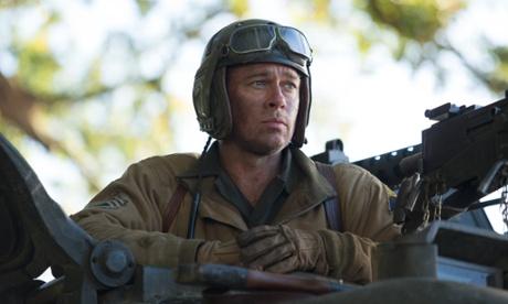 Tank boy ... Brad Pitt in Fury