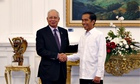 Joko Widodo, right, with Malaysian PM Najib Razak