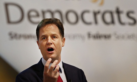Nick Clegg: 'Let's have the review of Ripa and look at what ideas and proposals may emerge from that.' Photograph: Danny Lawson/PA