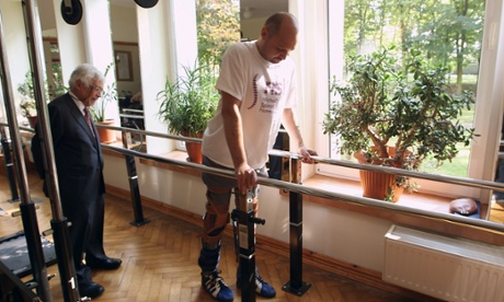 Darek Fidyka who was completely paralysed from the waist down and is now able to walk again after undergoing pioneering surgery.