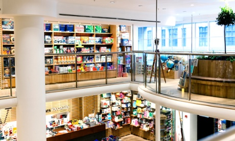 All lit up ... Waterstones in Piccadilly, London, where a lucky few will spend Friday night. Photograph: Airbnb.com