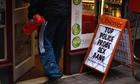 Newspaper board outside a Rochdale shop