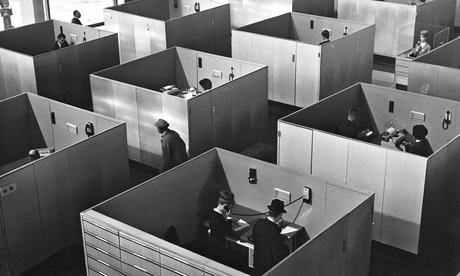 Playtime for Tati … M.Hulot hunts for Giffard in an office of Mondrian geometry