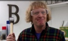 Grayson Perry prepares to take a hammer to the Huhne vase.