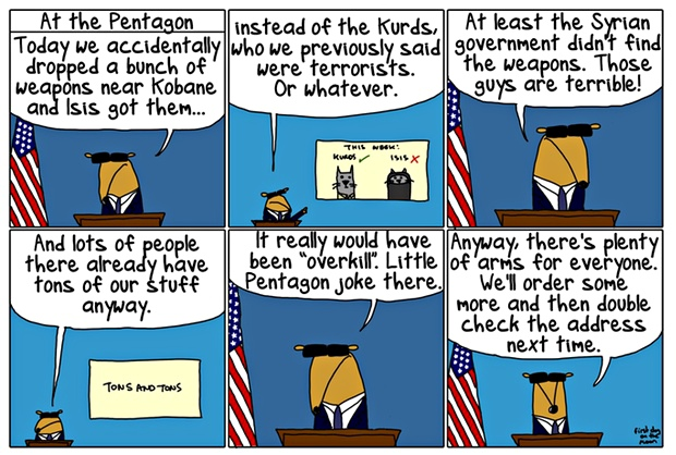 First Dog on the Moon on Isis cartoon...