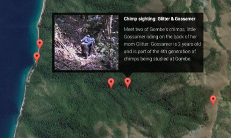 Google Maps in Gombe National Park