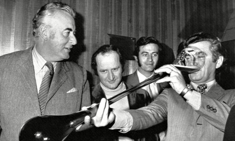 Gough Whitlam and Bob Hawke in 1972