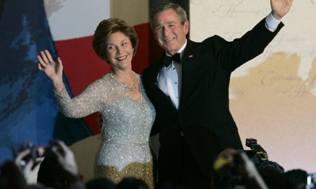 George Bush and Laura Bush in 2005.