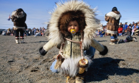 A child in traditional parka in Alaska.
