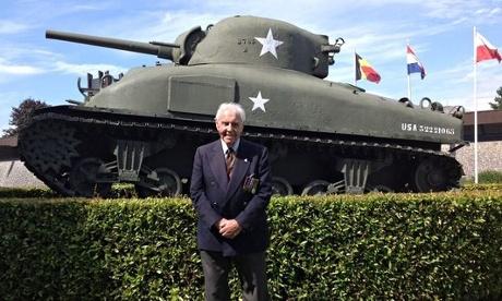 Bill with a Sherman tank - Fury