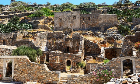 The buildings on Spinalonga Island, Crete
